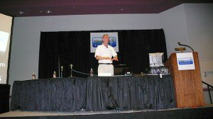 Don Crowther speaking at a session at Blogworld 2008