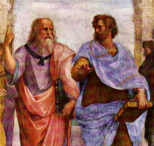 Plato and Aristotle enjoyed a healthy debate