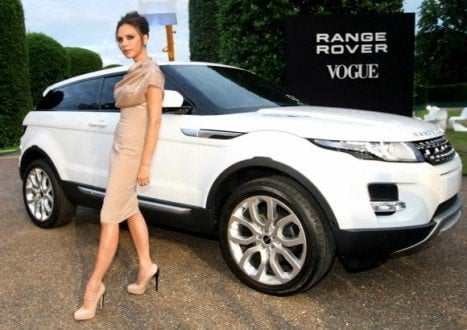 Victoria Beckham and her new Land Rover Range Rover Evoque
