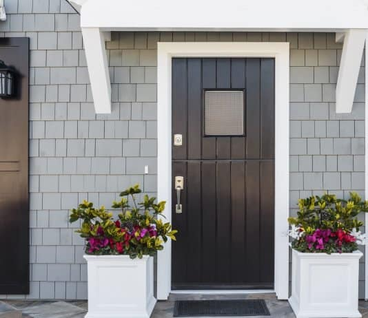 use a black front door to increase the value of your home