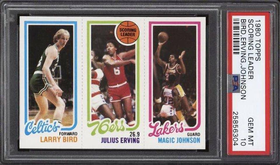 Larry Bird Magic Johnson Rookie Card Sells At Record Price